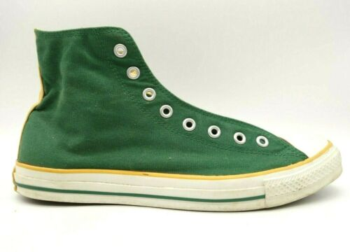Converse Green Yellow Canvas Lace Up Athletic High