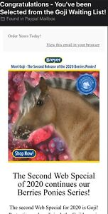 NEW-Breyer-Goji-Berry-Pony-2020-Special-Model-Horse-Traditional-350-Fjord