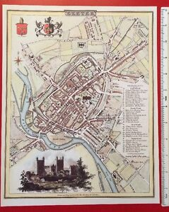 Map Of England 1800.Details About Old Antique Colour Map Exeter England 1800 S 12 X 9 Cole Roper Reprint