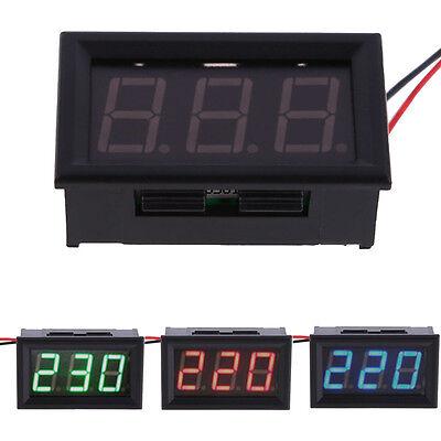 YB27A LED AC 60-500V Digital Voltmeter Home Use Voltage Display w/ 2 Wires