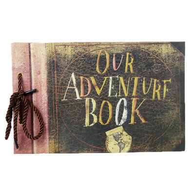 Vintage Photo Album Adventure Book Memory DIY Anniversary Scrapbook Adhesive UK