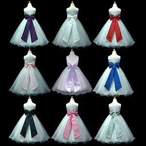White floor length christmas baby wedding flower girls dress 1 to 13