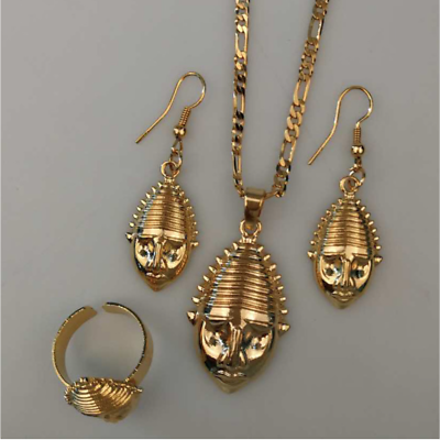 Traditional Papua New Guinea Necklace Earrings Ring PNG Wedding Jewellery Set