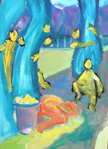 Vintage-gouache-painting-expressionist-figure