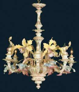 Capodimonte Mother Of Pearl Chandelier 6 Light New Ebay