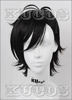 Say I love you Kurosawa Daiwa Black Anime Short Cosplay Costume Wig +CAP