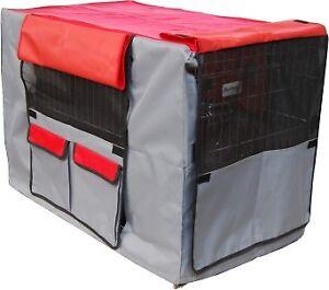 Hundekaefig-Transportbox-Kaefig-Husse-Cover-Huelle-fuer-Transportkaefig-Gr-XXL-106-F