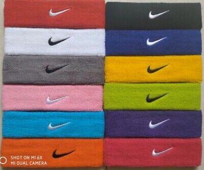 Limpia el cuarto dolor de cabeza parilla  Nike Swoosh Headband Brand New 12 Different Colors To Choose From   eBay
