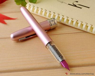 PINK PGB-1000 Platinum PLAISIR Fountain Pen 0.3 Extra Fine Nib Aluminum Body NEW