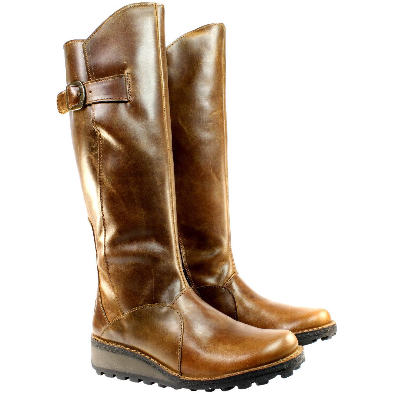 Zapatos de mujer baratos zapatos de mujer bajo, Fly London Mol 2 bajo, mujer Botas Altura Rodilla Camel 1e8766