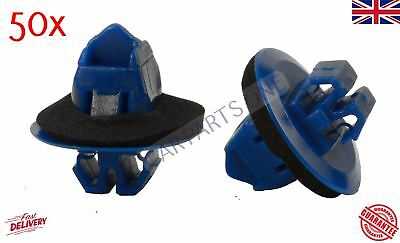 50x Fits Toyota Land Cruiser door sill moulding Plastic trim clips