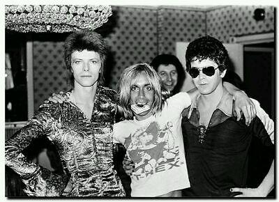 H130 Art Poster David Bowie with Iggy Pop Vintage Rock Star Pop Custom Print