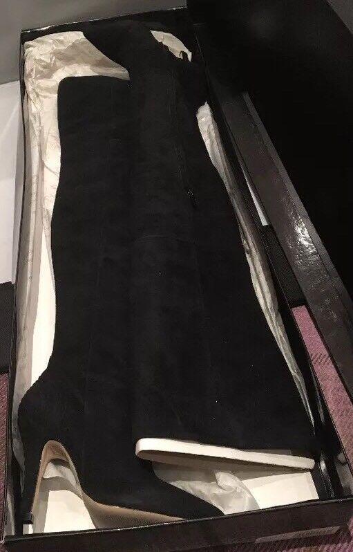 FAB Preen For Topshop Alto del muslo OTK Negro Botas De Gamuza-Nuevo Y En Caja, tamaño 36, Reino Unido 3