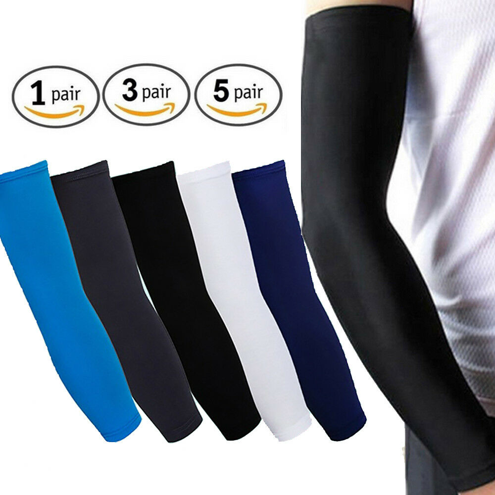 Arm Sleeves Sports Cooling UV Sun Cover Protection Pair Outdoor Cycling Sports S