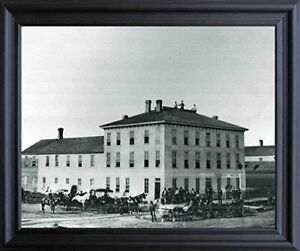 Vintage Tremont House Hotel Wichita Kansas Black Framed Wall Decor
