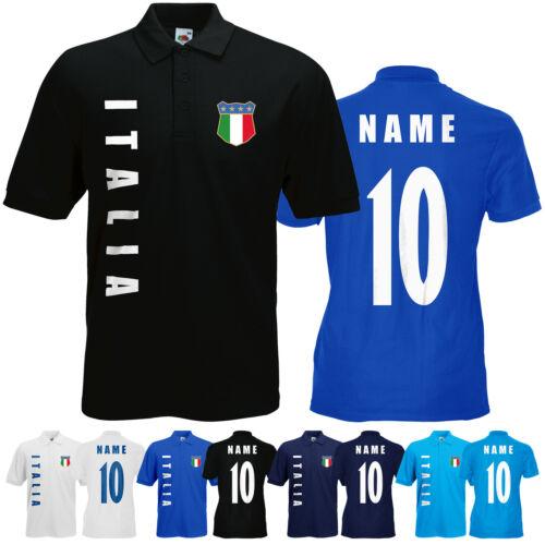 WM 2018 Italien ITALIA Polo-Shirt Trikot Name Nummer