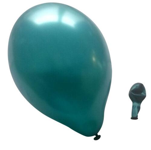 50 Luftballons metallic türkis Luftballon Ballons aus der EU Standardgröße