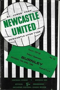 Football-Programme-gt-NEWCASTLE-UNITED-v-BURNLEY-Apr-1968