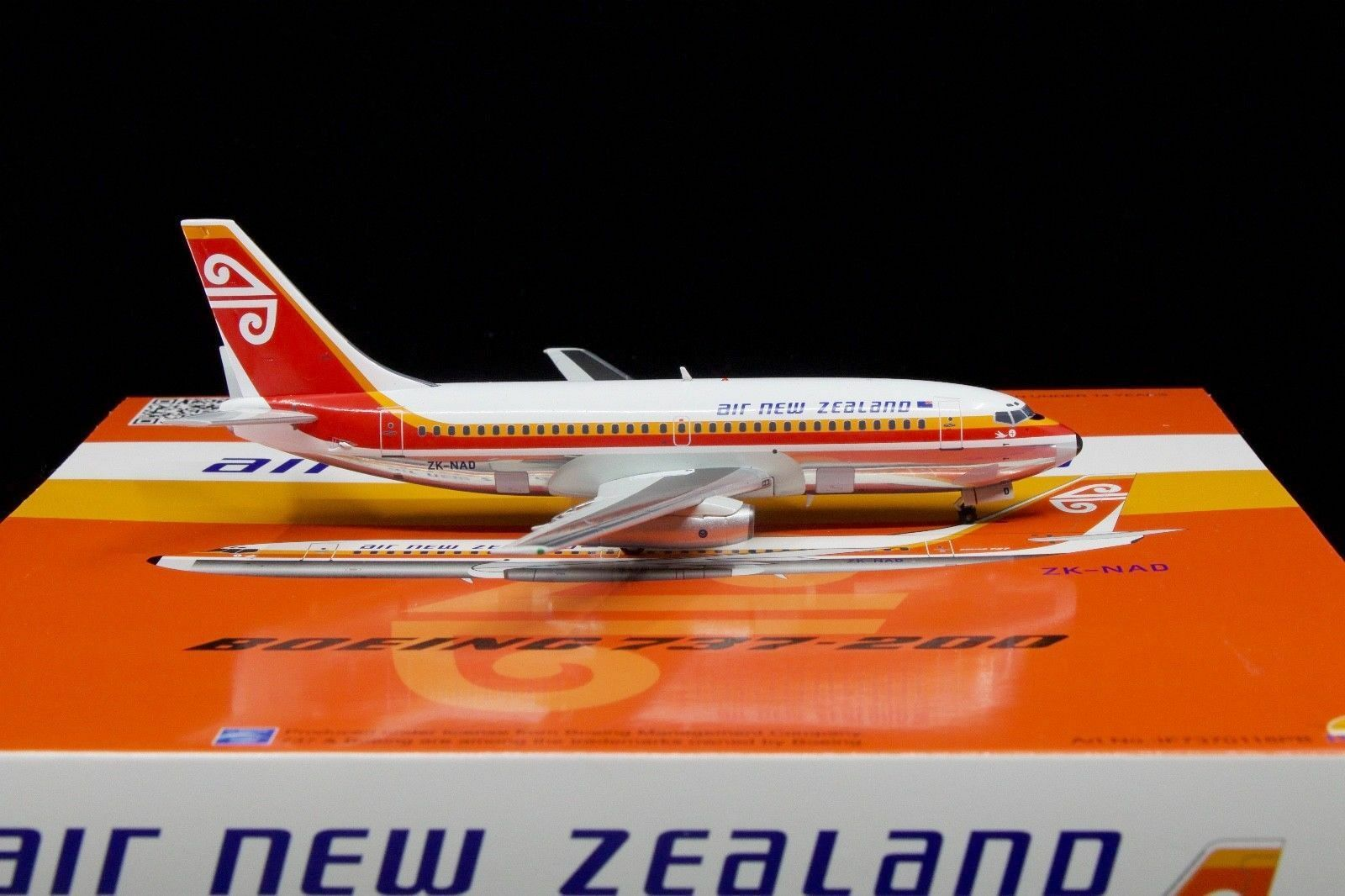 IF7370118PB 1 200 AIR NEW ZEALAND ZEALAND ZEALAND B737-200 ZK-NAD POLISHED W STAND LTD EDN 60 PC d0befe