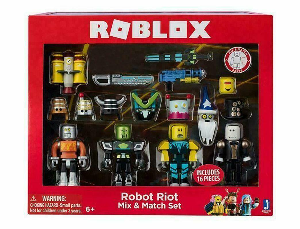 Roblox Robot Riot 4 Figure Pack Mix /& Match Set Figure Toys Kids Gifts UK Stock