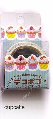 1pc japan made diecut washi paper masking tape macaroon cupcake x'mas panda ...