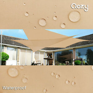 Qozy Waterproof Sun Shade Sail Patio Pool Garden Square Rectangle