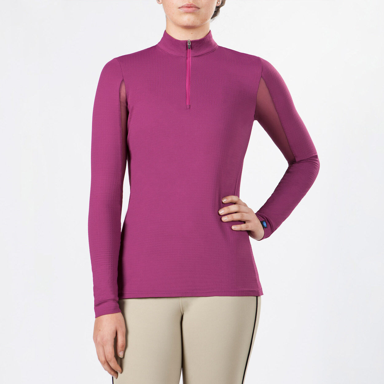 Irideon CoolDown IceFil Long Sleeve Jersey-Raspberry-L