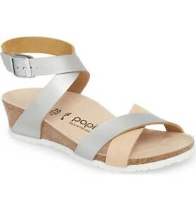 b00a8a61cc2 Image is loading NIB-Papillio-by-Birkenstock-Lola-Wedge-Leather-Sandals-