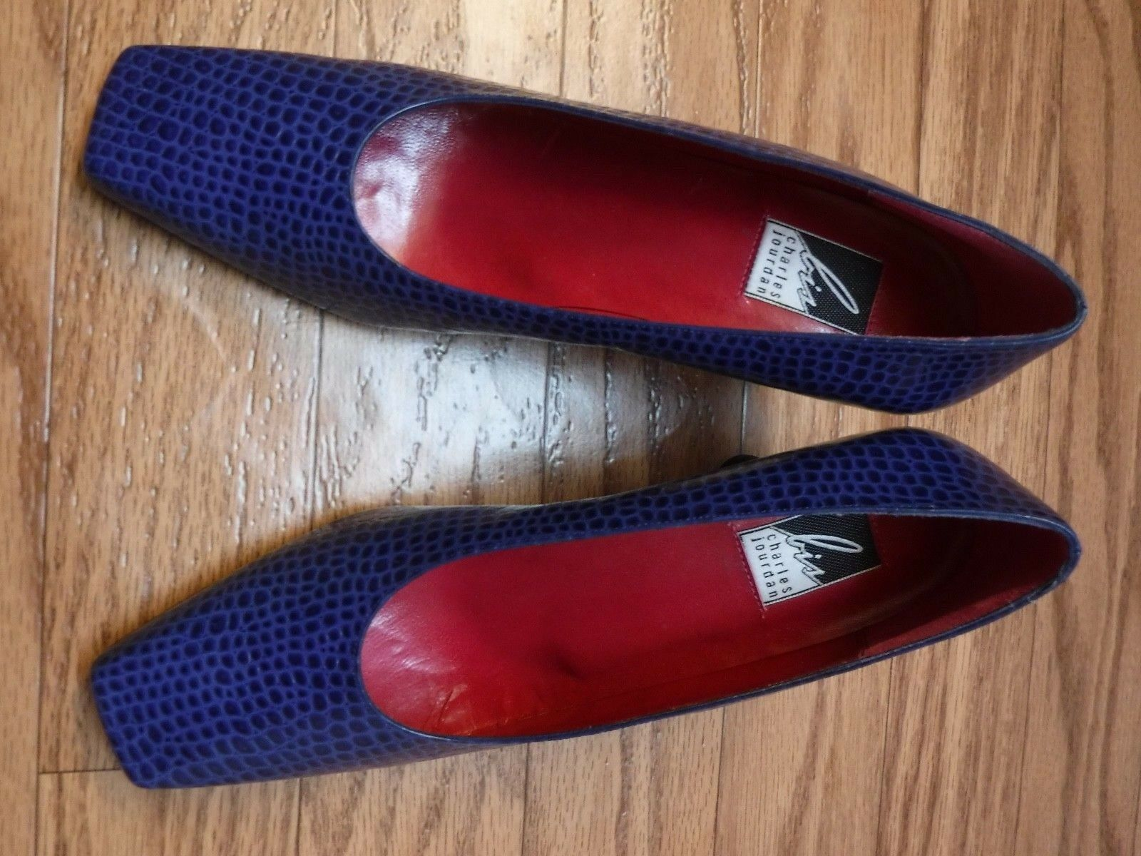 Charles Jourdan SAY 60 13 Blau Leather Upper Upper Upper Animal Print schuhe damen 91 2NWOB e9e639