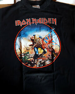 T-SHIRT-IRON-MAIDEN-xl-The-Trooper-Europe-1999-rare-collector