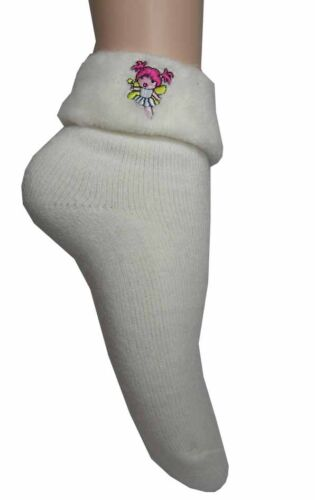 Girls Thermal Cream /& Pink Fairy Socks 6 pairs in deal