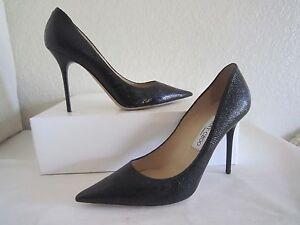 586e6d1253 Jimmy Choo Abel Black Leather Classic Pump Shoes 391/2 US 9.5 | eBay