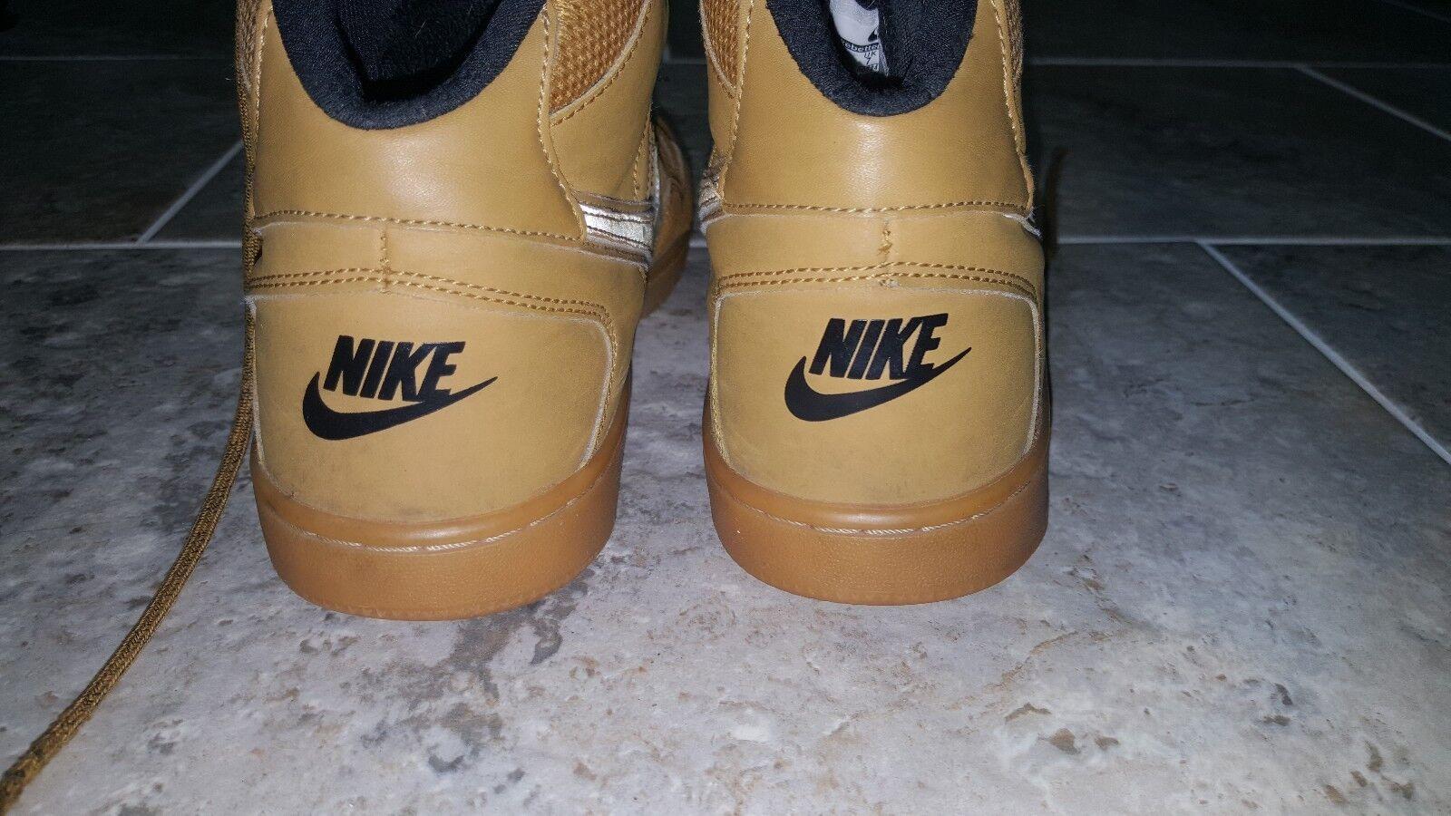 Nike, sohn von kraft der gelbbraune gomme schuhe größe us8 uk7 gebrauchtyachten der kraft gute zustand 229467