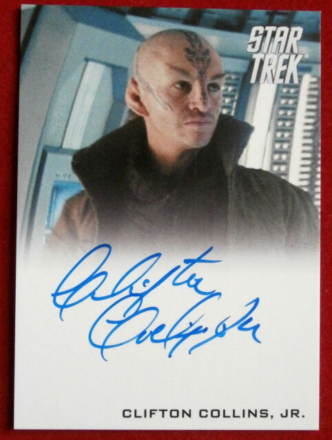 STAR TREK (2009 FILM) CLIFTON COLLINS JR as Ayel, LIMITED EDITION Autograph Card