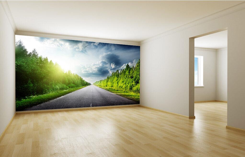 3D Sunlight Grünness Trees 03 Wall Paper Wall Print Decal Wall AJ WALLPAPER CA