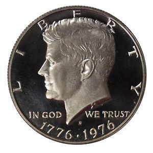 1976 S Clad Proof Bicentennial Kennedy Half Dollar-Gem Proof