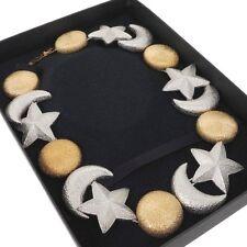 Vintage Christian Dior Moon Sun Star Motif Chunky Necklace