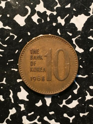 1968 Korea 10 Won 6 Available Circulated 1 Coin Only
