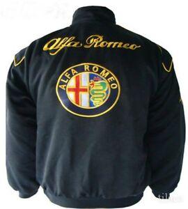 Jacket Blouson Jaquette Alfa Romeo Black Racing Team All Logo In