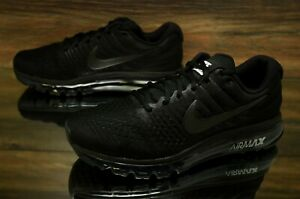 Details about Nike Air Max 2017 Triple Black 849559 004 Running Shoes Men's Multi Size NEW