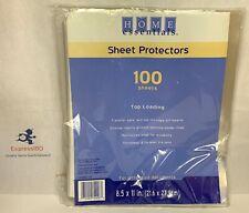 Ff Home Essentials 100 Sheet Top Loading Protectors 85 X 11