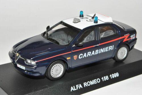 Alfa Romeo 156 1999 Limousine Carabinieri 1//43 De Agostini Modellauto Modell Aut