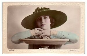 RPPC-Jose-Collins-Actress-and-Singer-Hand-Colored-Real-Photo-Postcard-5D