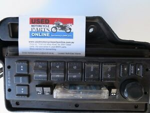 BMW-R1150RT-MOTORCYCLE-RADIO-CASSETTE-TAPE-AND-COVER-OEM-USED-PART-65127652667