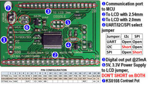 Details about Universal Serial:UART/IIC/I2C/SPI Adapter V2 for 128x64  LCD+Arduino Lib CA