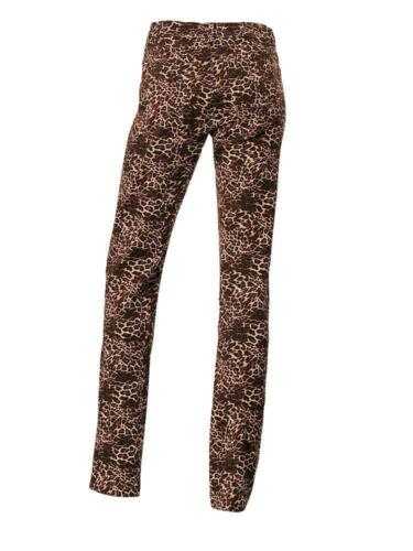 Heine Femmes druckhose pantalon chino animal-print stretch marron 005954.