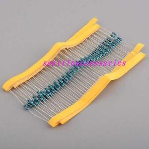 50pcs-1-4W-0-25w-Watt-Metal-Film-Resistor-1-1R-910R-ohm