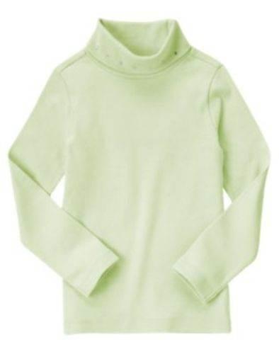 NWT Gymboree Girls Fairy Wishes Green Gem Turtleneck Tee Size 3 5 6 9 /& 10