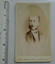 Vintage CDV. Unknown man. Sideburns.  Fradelle. Marshall. London.