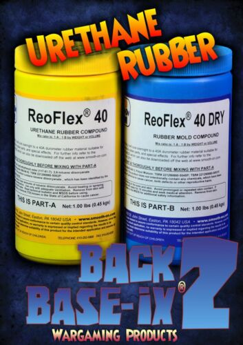 1 of 1 - Liquid Urethane Rubber Compound Smooth On ReoFlex 40 Trial Kit 0.9kg/2lbs